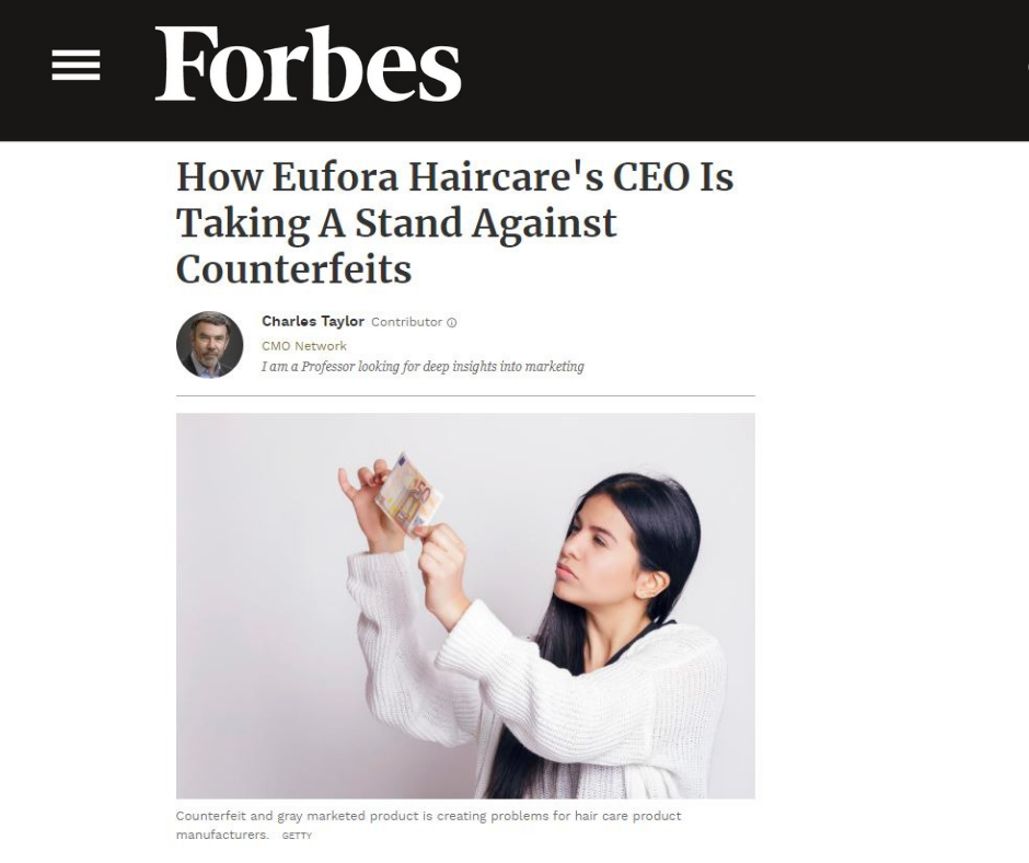 Forbes.com - How Eufora Haircare's CEO Is Taking A Stand Against Counterfeits
