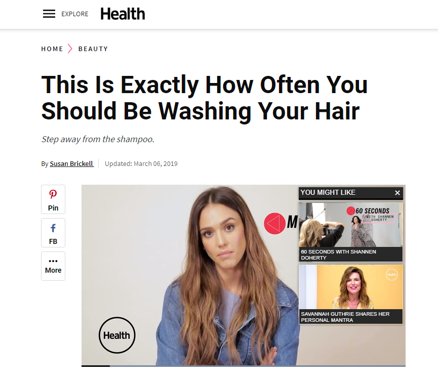 """How Often Should You Wash Your Hair"""