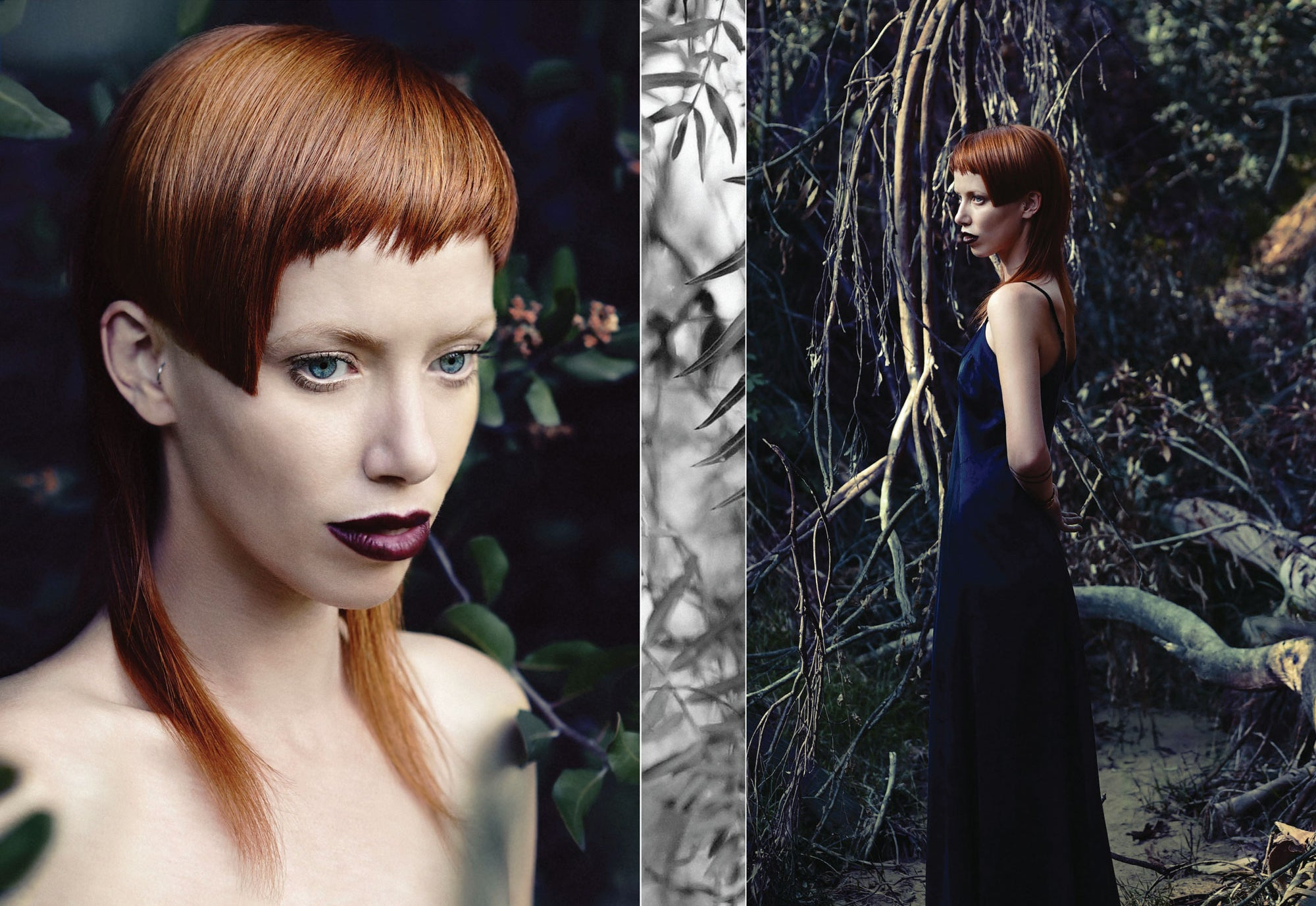 Model with copper toned hair