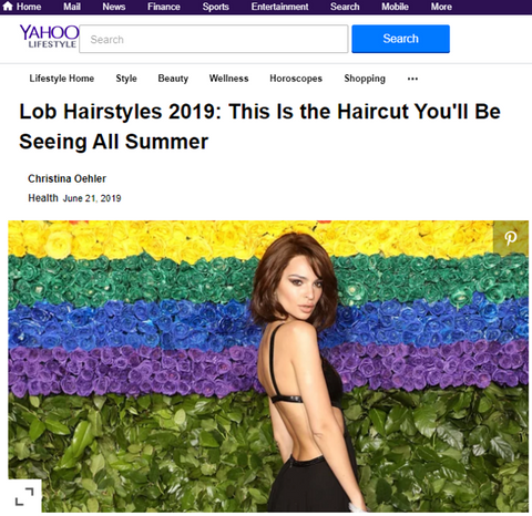 Yahoo.com - Lob Hairstyles 2019 This is the Haircut You\'ll ...