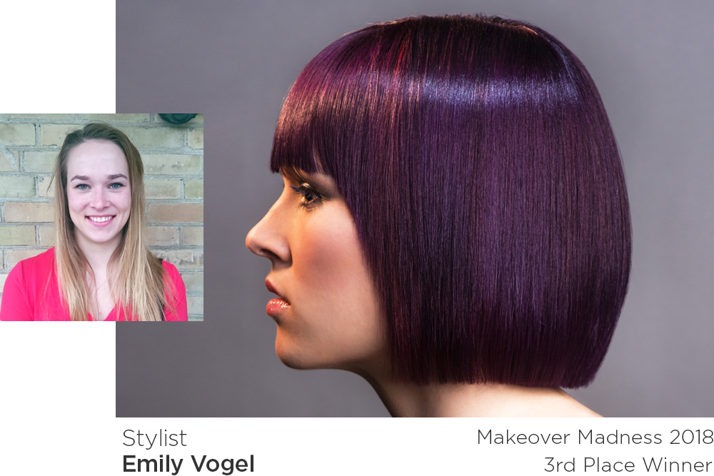 Makeover Madness Transformations 2018 3rd place winner - Emily Vogel
