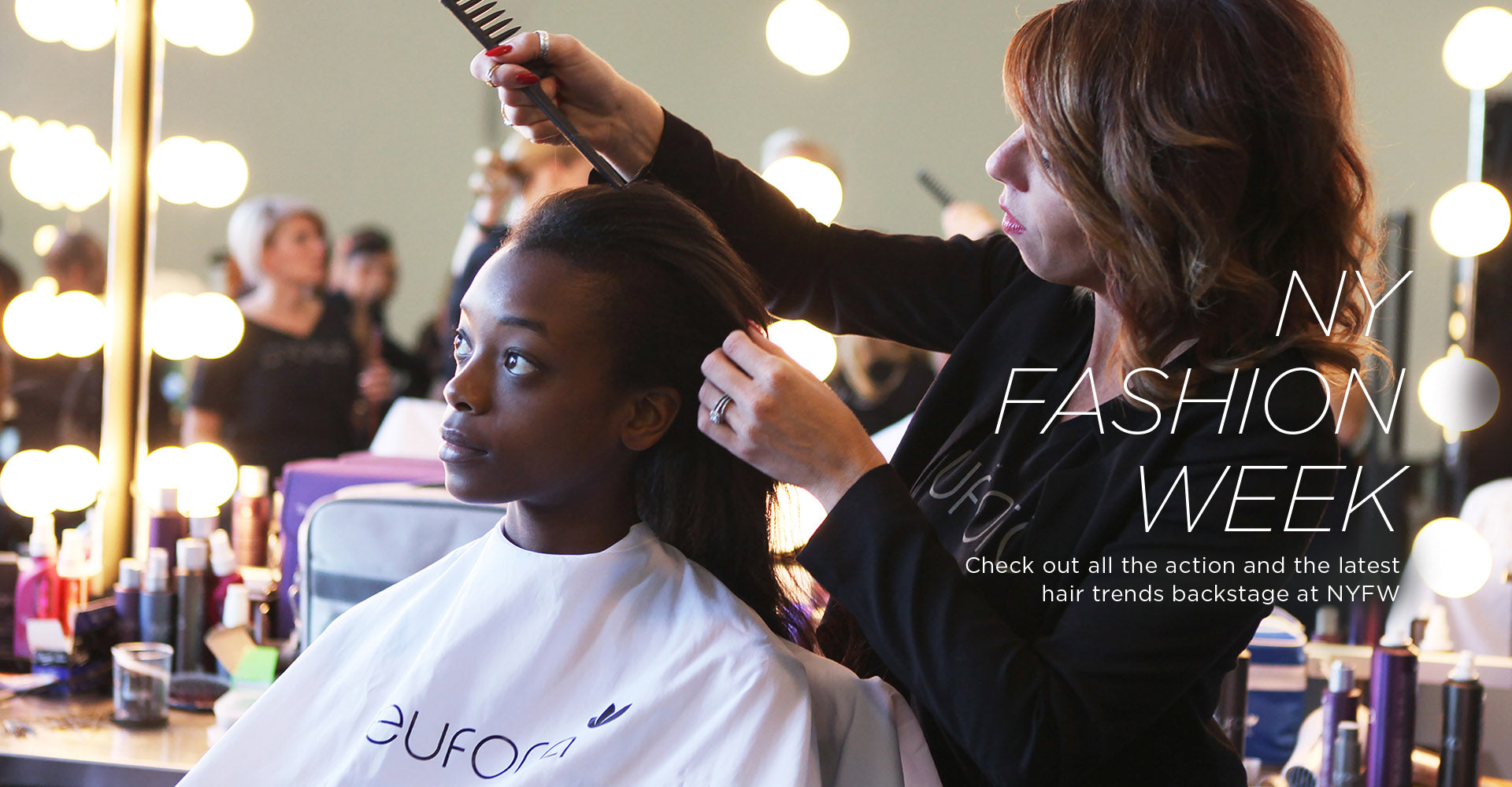 New York Fashion Week: Check out all the action and the latest hair trends backstage at N.Y.F.W.