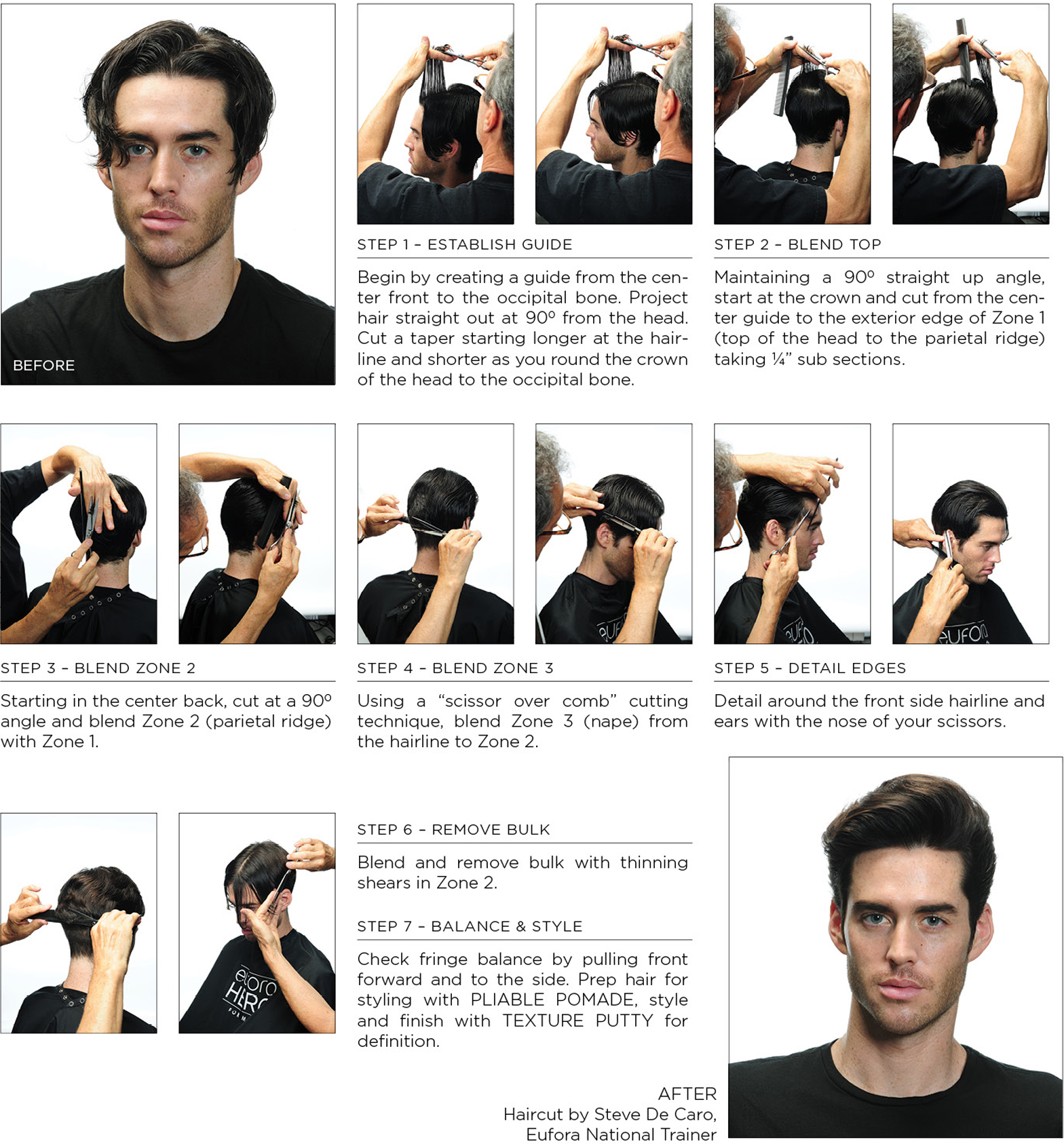 7 steps to the perfect pompadour