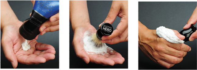 How to apply shaving cream to a brush