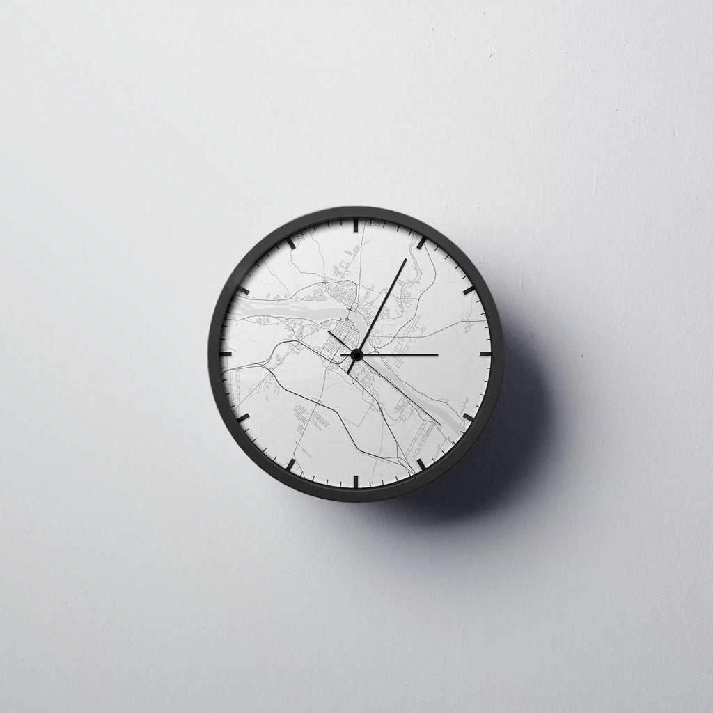 Fredericton Map Wall Clock