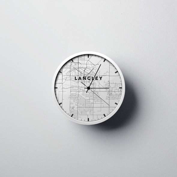 Langley Map Wall Clock