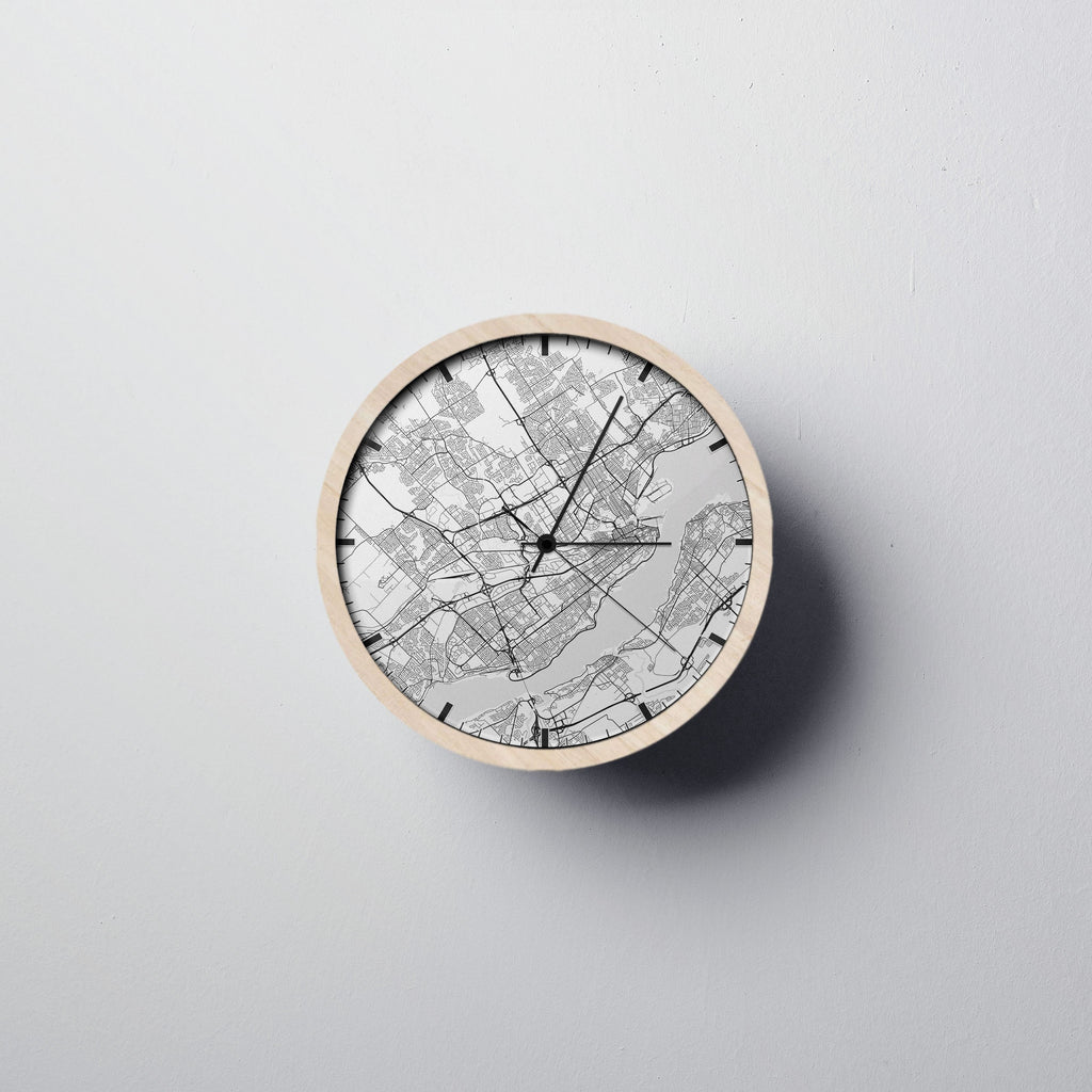 Québec City Map Wall Clock