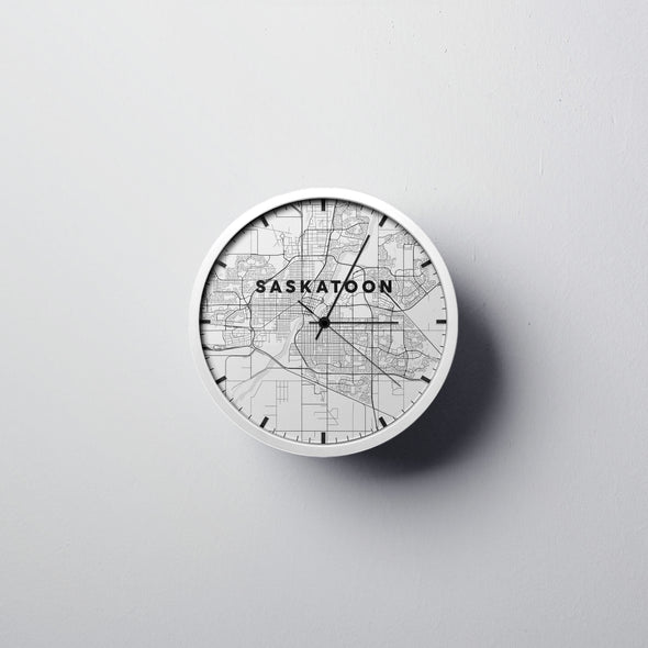 Saskatoon Map Wall Clock