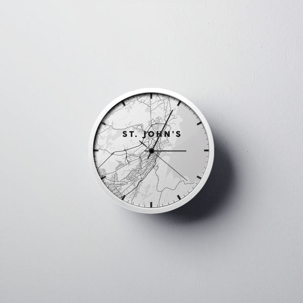 St. John's Map Wall Clock