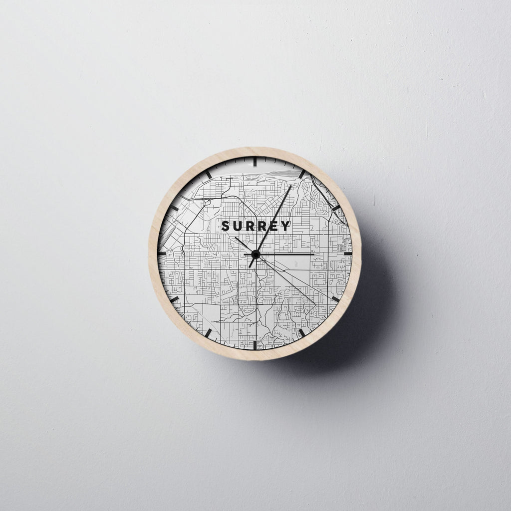 Surrey Map Wall Clock