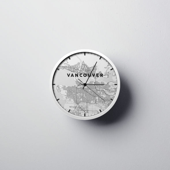Vancouver Map Wall Clock