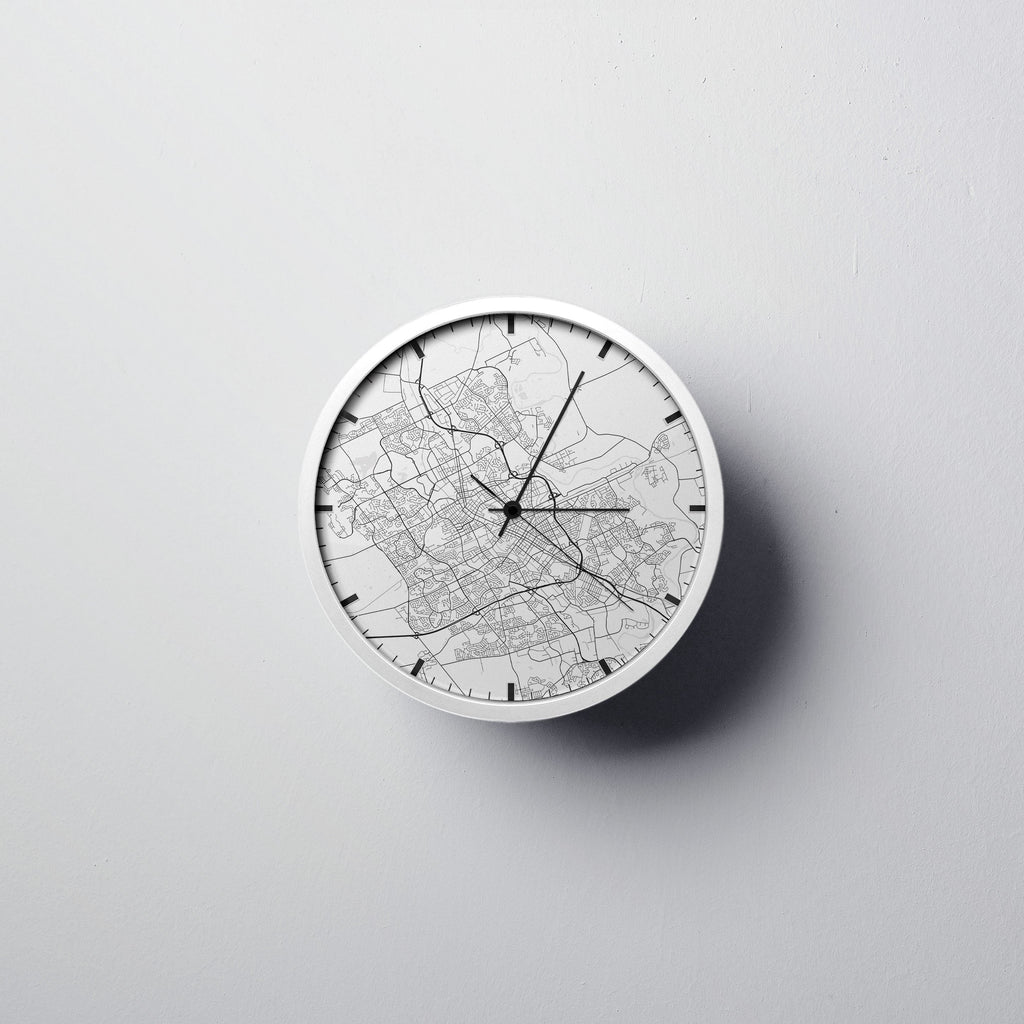 Waterloo Map Wall Clock