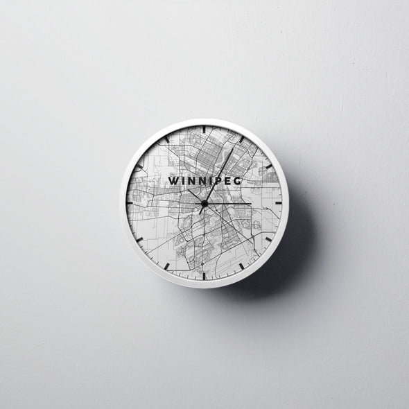 Winnipeg Map Wall Clock