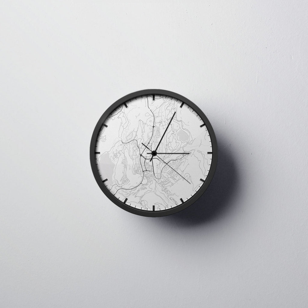 Whistler Map Wall Clock