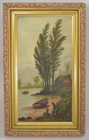 Antique Canadian Folk Art Painting