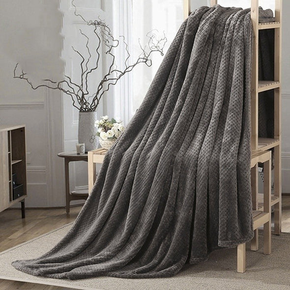 Large Faux Mink Throw Blanket