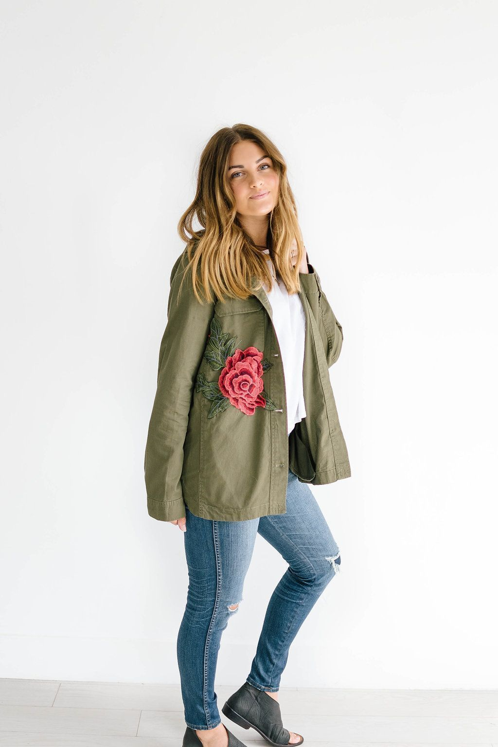 Army of Roses Jacket in Green