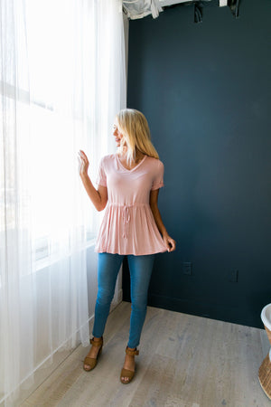 Figure Flattering V-Neck In Blush