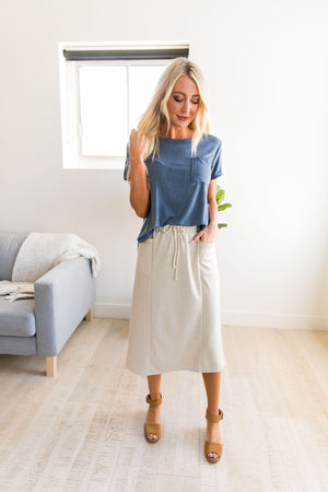 Free Bird Drawstring Skirt - ALL SALES FINAL