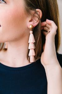 Just Peachy Tassel Earrings