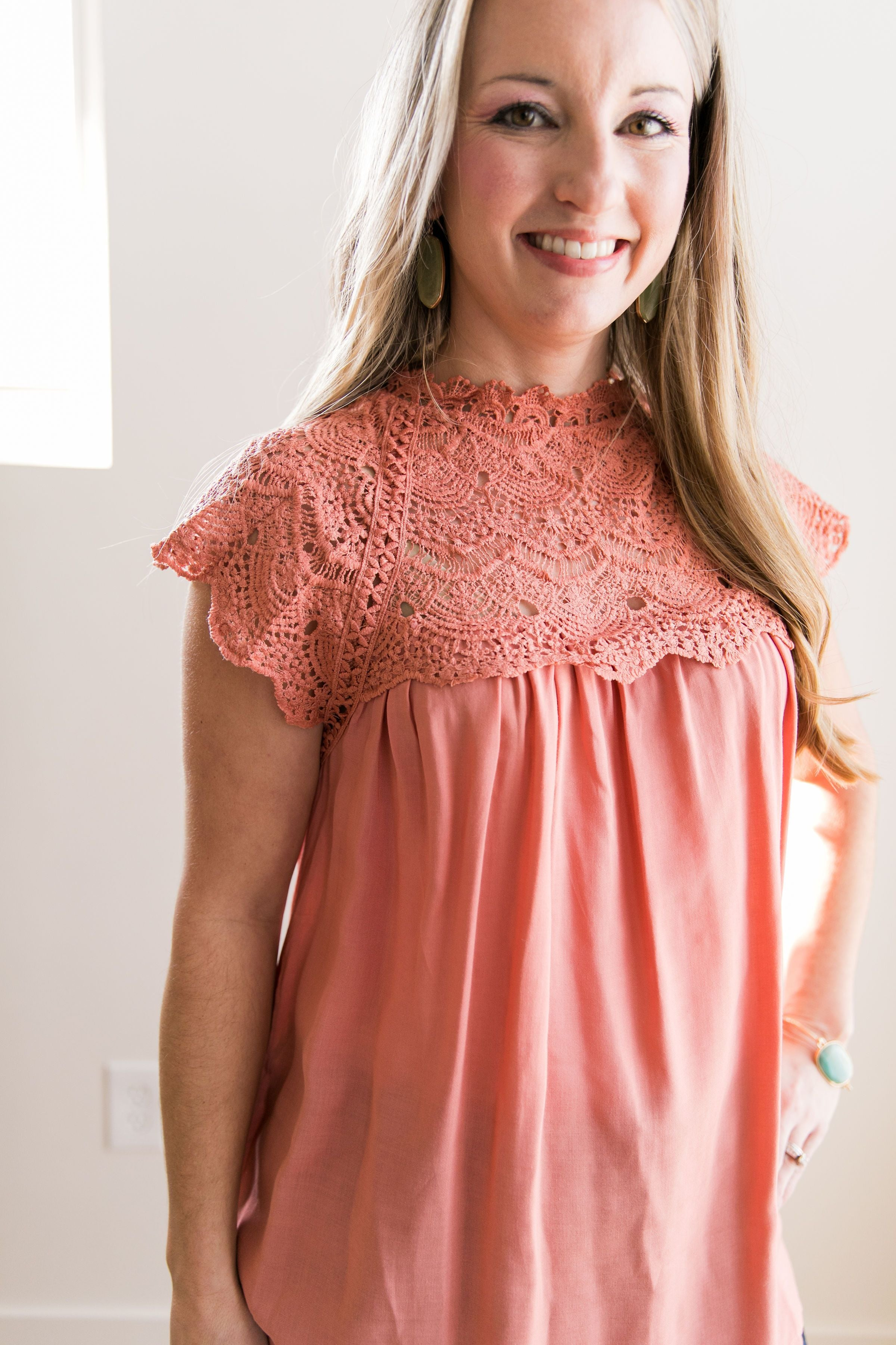Topped With Lace Blouse