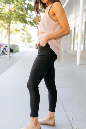 Beyond Basics Black Moto Jeggings