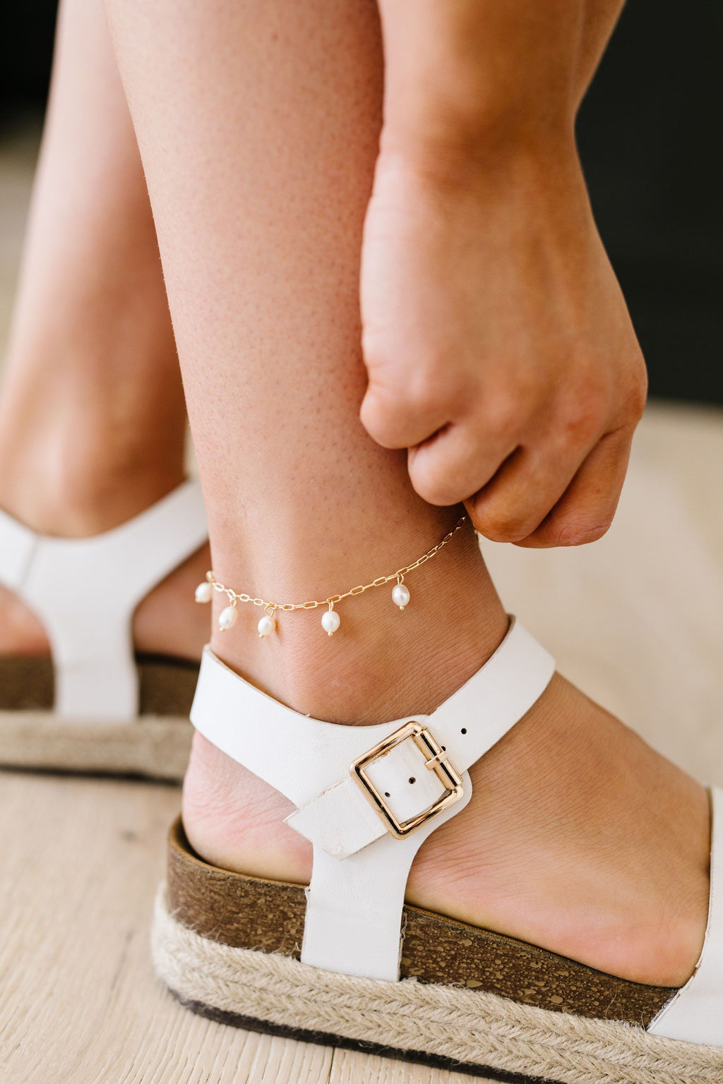 Cast Your Pearls Anklet
