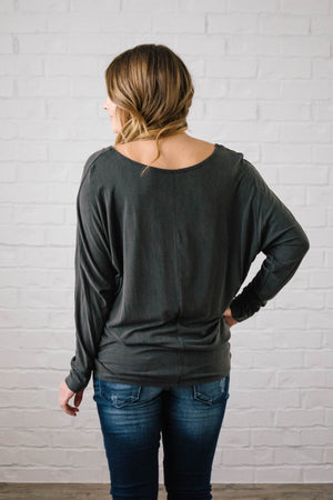 Casual Friday Top in Charcoal