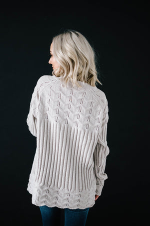 Chenille Sweater in Cream