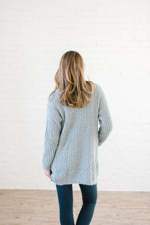 Cuddle Up Cardi in Dusty Blue