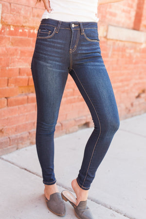 Devastatingly Dark Denim Skinny Jeans