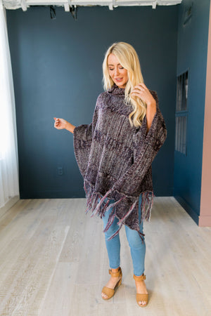 Dixie Chick Fringed Poncho - ALL SALES FINAL - ALL SALES FINAL