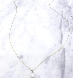 Don't Get Fresh Pearl Pendant Necklace