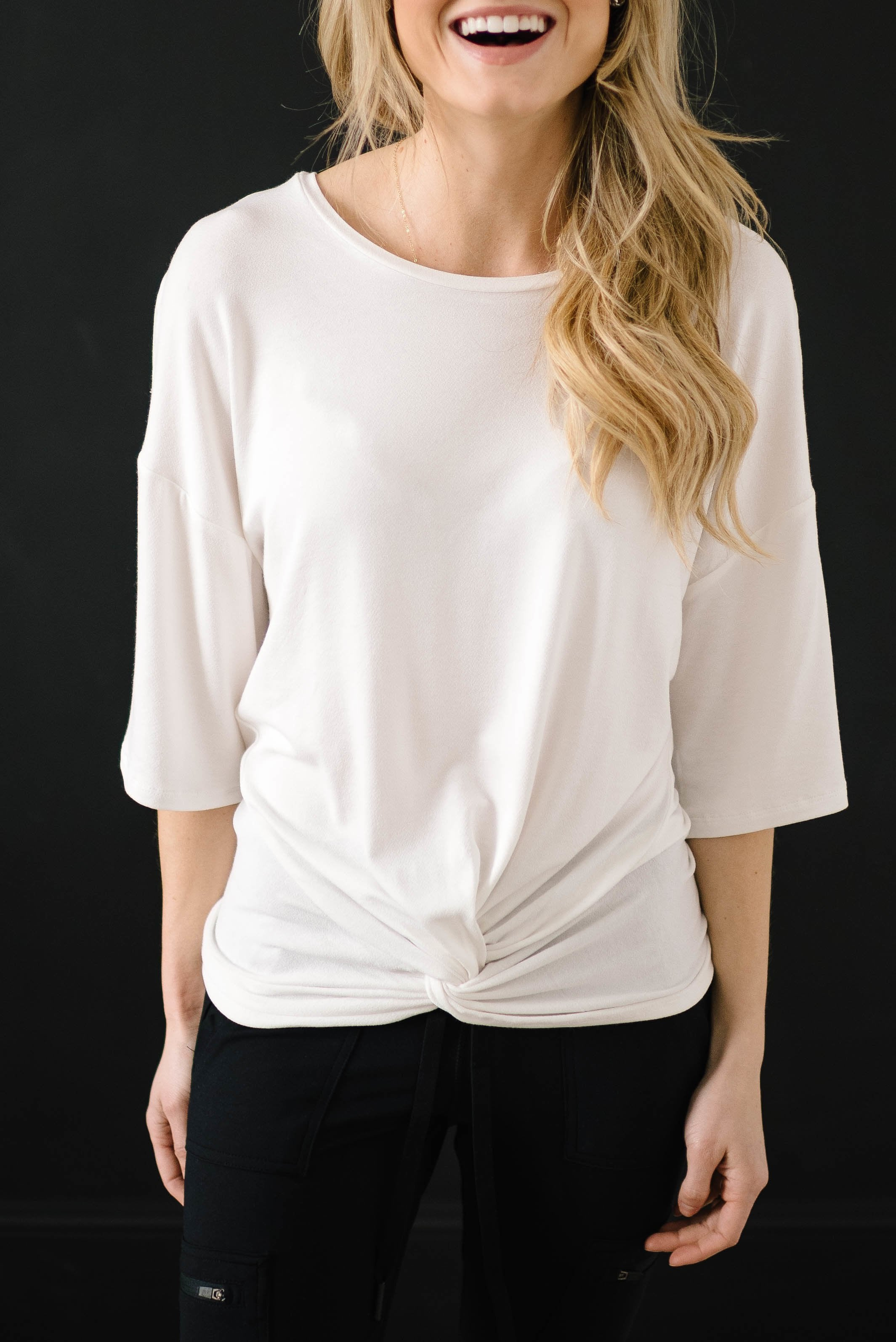 Feeling Knotty Tee in Ivory