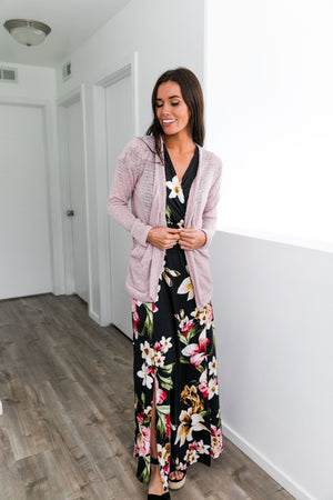 Floral Bouquet Maxi Dress In Black