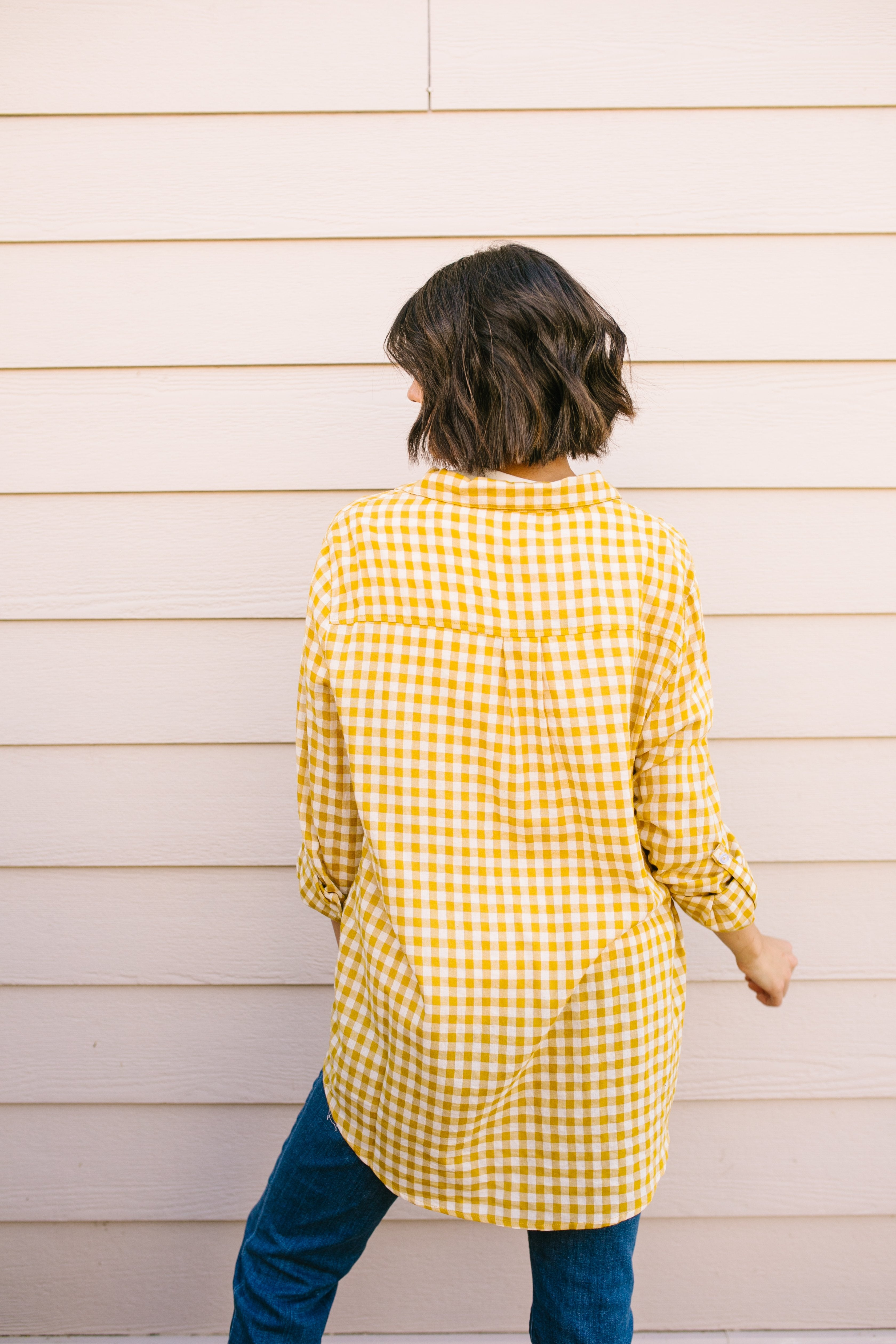 Harvest Gold Plaid Button-down