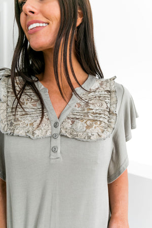 Hearts Aflutter Pin-tucked Lace Top - ALL SALES FINAL