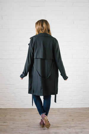 In The Trenches Light Weight Jacket in Black