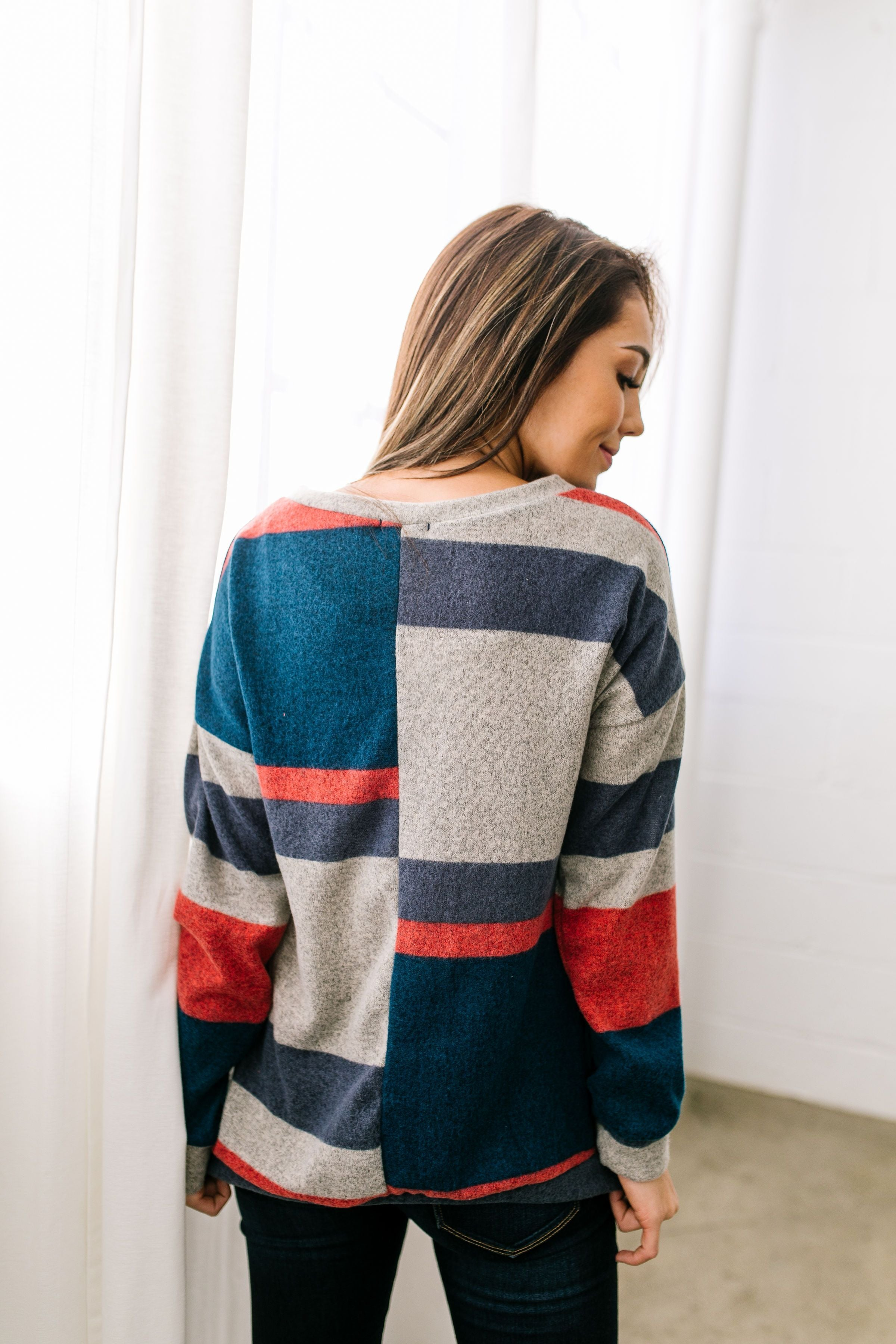 Keeping It Real Multi-Color Striped Top - ALL SALES FINAL