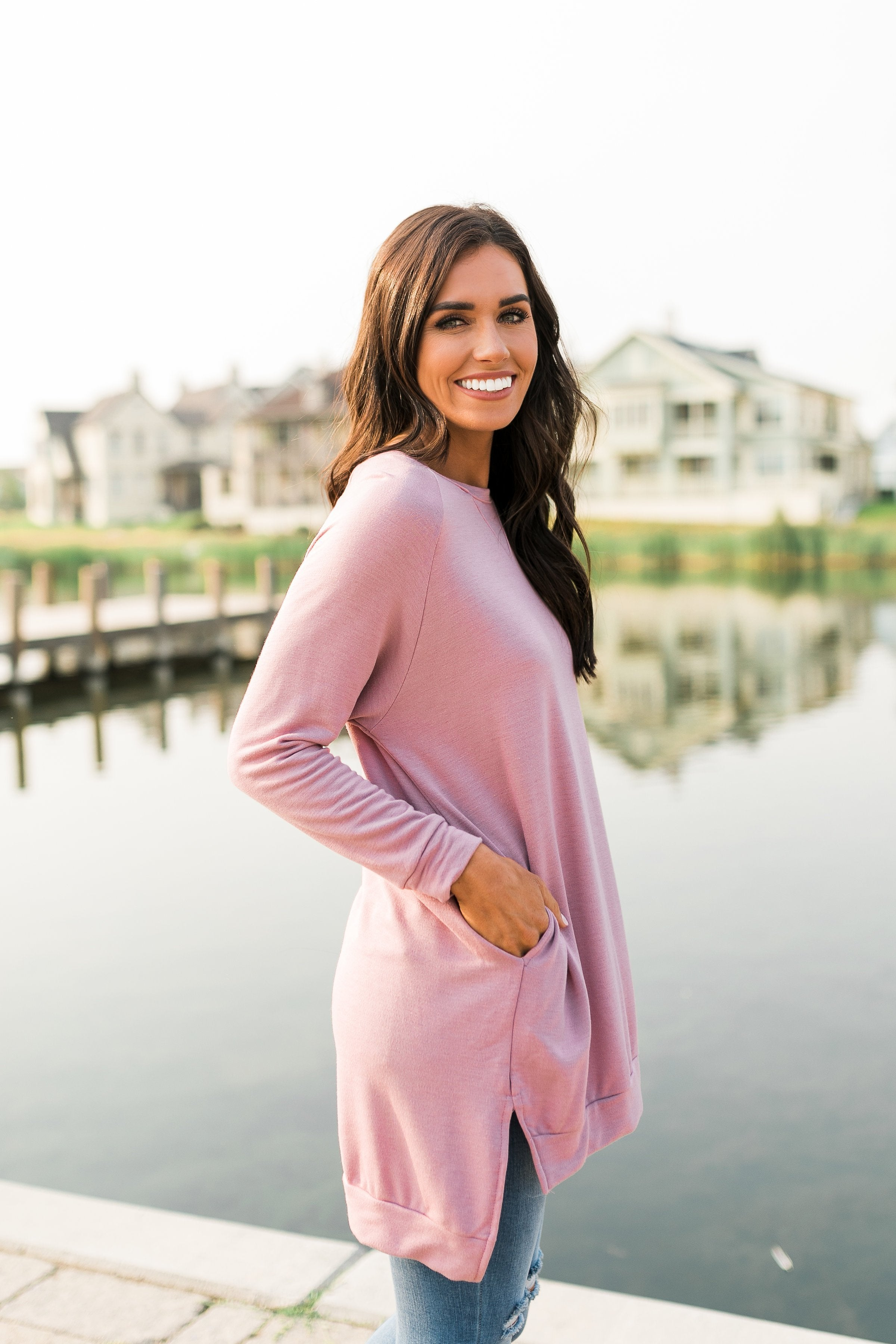 Lazy Day Tunic In Pink