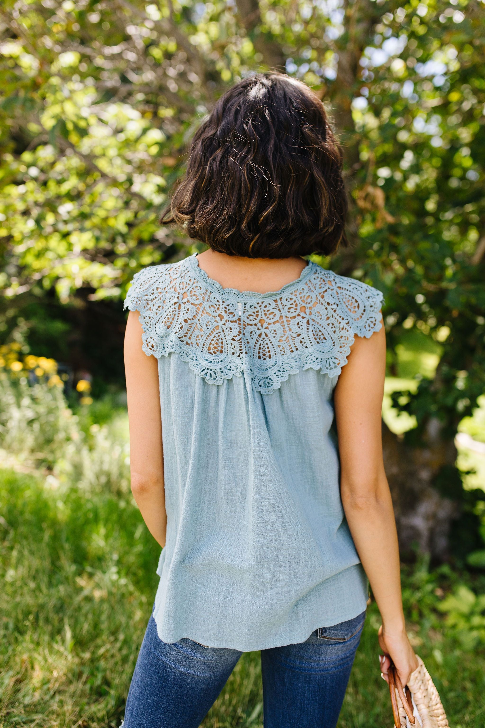 Lovely Laura Lace Yoke Blouse