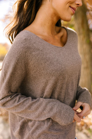 Make It A Grande Mocha Sweater - ALL SALES FINAL