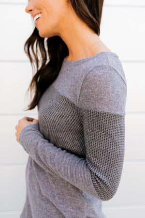 Meet In The Middle Thermal Knit Top