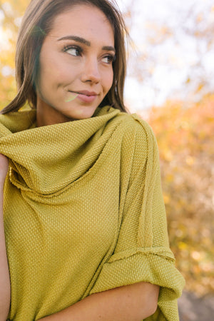 Must Have Cowl Neck Pullover In Mustard - ALL SALES FINAL