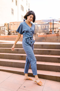 Newport Beach Button-Down Jumpsuit