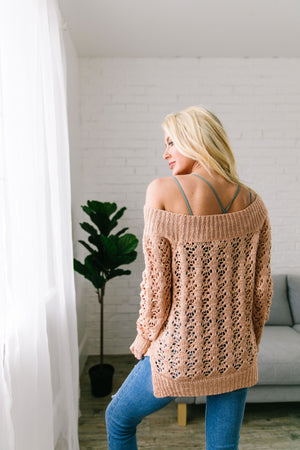 Peaches 'N' Cream Sheer Sweater