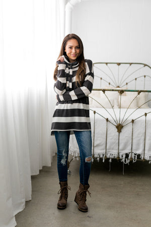 Read Between The Lines Cowl Neck - ALL SALES FINAL