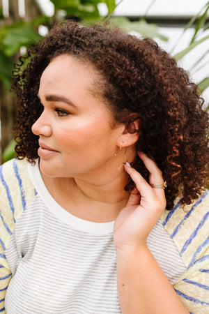Shoot For The Stars Hoop Earrings