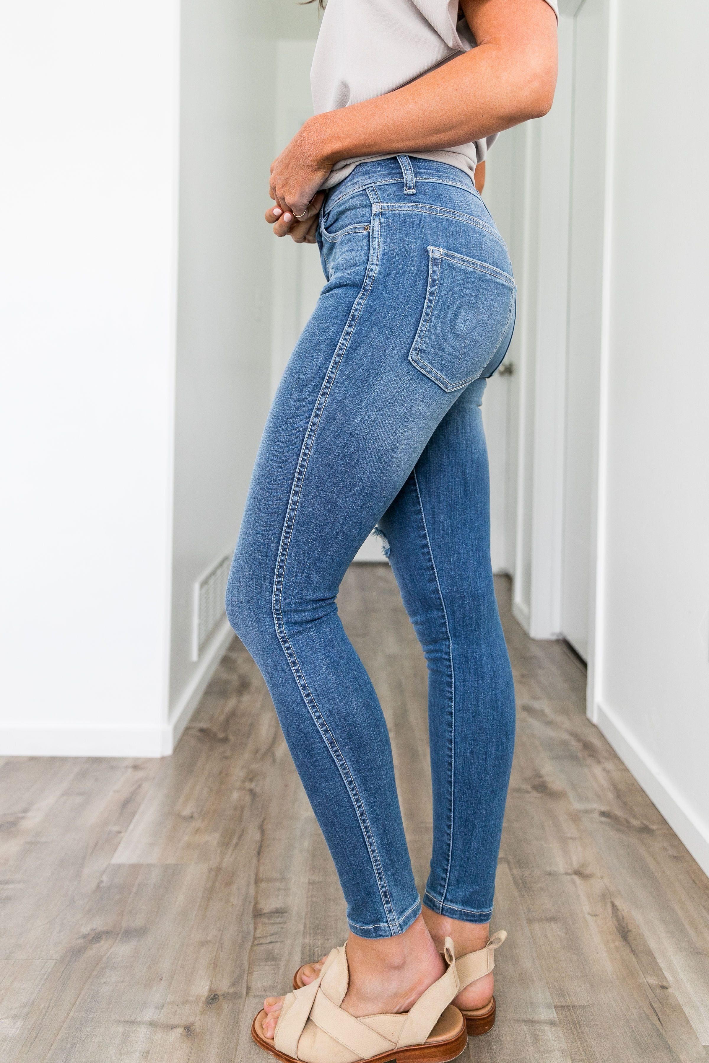 Springtime High Rise Skinny Jeans - ALL SALES FINAL