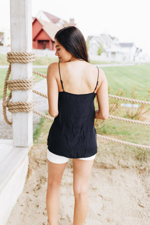 Sugar + Spice Lace Camisole In Black